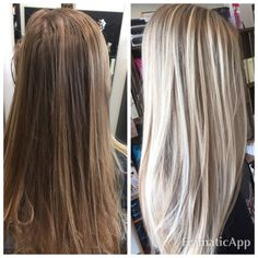 #blondbarrbiee #beautiful #icy #blonde #beforeandafter #gorgeous #lakmeusa #memorialday #weekend #saturday  #salontoday #modernsalon