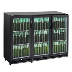 Cybercool 330l Commercial Underbench Black Drinks Bar Fridge Online Australia