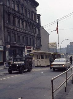 East Berlin 1971 Military Police at Checkpoint Charlie
