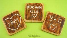 Wooden Cookies - Valentines Cookies from http://www.polishcookies.pl