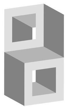 Take a look at this amazing Impossible Stacked Cubes Optical Illusion illusion. Browse and enjoy our huge collection of optical illusions and mind-bending images and videos. Illusion Kunst, Illusion Drawings, Geometric Drawing, Geometric Shapes, Impossible Shapes, Arte Linear, Math Art, Art Abstrait, Optical Illusions
