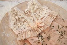 Floral newborn romper photo prop lace baby girl outfit   Etsy