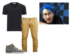 """""""vidcon2 (mark)"""" by cliffordreyanna on Polyvore featuring Versace, Creative Recreation, men's fashion and menswear"""