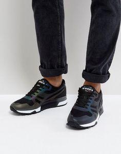 Diadora N9000 MM Hologram Sneakers In Black - Black
