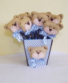 lembrancinhas de maternidade ursinhos rei em feltro - Pesquisa Google