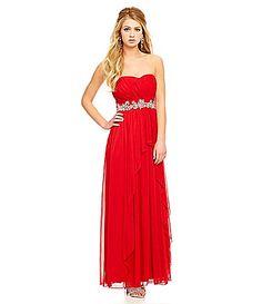 Xtraordinary Strapless Flyaway Front Gown #Dillards