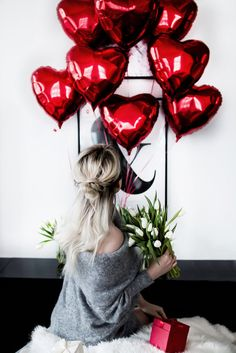 Sweater: tumblr grey off the shoulder off the shoulder flowers blonde hair long hair valentines day