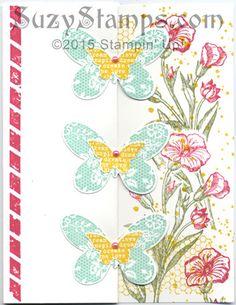 Stampin' Up! Cards - 2015-03 Class - Butterfly Basics stamp set, Butterflies Thinlits Dies