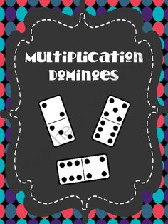 Multiplication Dominoes from An Apple For The Teacher on TeachersNotebook.com (11 pages) - Multiplication Dominoes - Math Game great for learning centers!