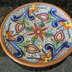 La Corona Talavera Pottery Plates Mexican Art, Pottery Art, Terracotta, Decorative Plates, Artisan, Antiques, Tableware, Ebay, Gourd Art