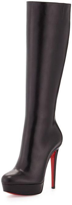 Christian Louboutin Bianca Botta Platform Red Sole Boot, Black | @kimludcom