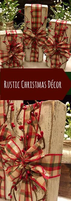 Rustic Christmas Décor Set. Christmas Decorations. Vintage Christmas. Christmas Gift. Winter Décor #affiliatelink