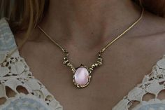 Limited Pastel pink bridal Mother Of Pearl solid bronze in 	 BreakAstone, Etsy shop.