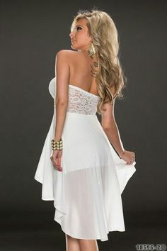 sexy long back short front high waist sleeveless party dress. Formal Dresses For Men, Casual Party Dresses, Party Dresses Online, Summer Dresses For Women, Club Dresses, Sexy Dresses, Evening Dresses, Maid Of Honour Dresses, Strapless Dress Formal