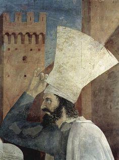 Piero Della Francesca, de son nom complet Piero di Benedetto de Franceschi ou encore Pietro Borghese, né entre 1412 et 1420 à Borgo San Sepolcro dans la haute vallée du Tibre en Toscane et mort dans la même ville le 12 octobre 1492, est un artiste peintre et un mathématicien italien du Quattrocento .