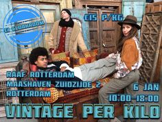 Ga stijlvol het nieuwe jaar in met de nieuwe, verse voorraad vintage tijdens Vintage per Kilo 6 januari - RAAF Rotterdam. #vintageperkilo #vintage #style #clothes #shopping #newyear #kilosale #buy #shop #unique #items #rotterdam