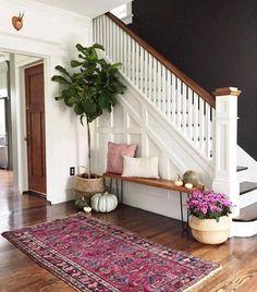 50 Best Rug Living Room Farmhouse Decor Ideas 30 – Home Design Decoration Hall, Hall Way Decor, Basket Decoration, Flur Design, Black Walls, White Walls, Brown Walls, Charcoal Walls, My New Room