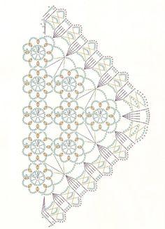 Chal triangulos de flores vintage crochet - Patrones Crochet