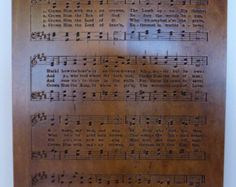 Crown Him With Many Crowns hymn carving on Maple wood - Edit Listing - Etsy Crowns, Verses, Sheet Music, Prayers, Carving, Wood, Etsy, Madeira, Woodwind Instrument