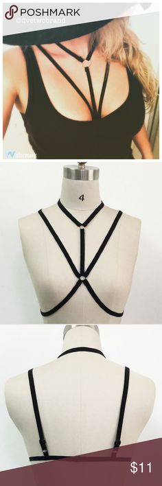 Sexy body harness in black: sm,md,lrg Medium and Large are temporarily out of stock. Intimates & Sleepwear Bras