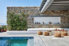 Dio Villa Mykonos Fanari Set in Fanari, this air-conditioned villa features a swimming pool, 2 front terraces and a patio on the back. The property is 4.1 km from Mykonos City and features views of the sea.