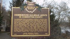 Roscoe, OH (Coshocton County) - Ohio Historical Marker #7 - 16 next to the canal system in Roscoe Village.