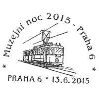 Prager Museumsnacht Sonderstempel der tschechischen Post