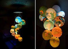 colgantes brillantes de globo que roban el show [Diseño: Benoit Vieubled]
