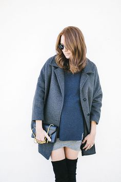Could I Have That blogger Samantha Wennerstrom in our Topper Coat and The Henley.