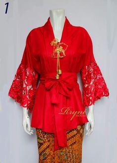 Hmm....cantiknya Kebaya Lace, Batik Kebaya, Kebaya Dress, Batik Dress, Kebaya Hijab, Batik Fashion, Fashion Sewing, Hijab Fashion, Trendy Dresses