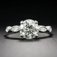 1.59 Carat Diamond Vintage Engagement Ring GIA L-VS1 - Antique & Vintage Diamond Rings - Vintage Jewelry