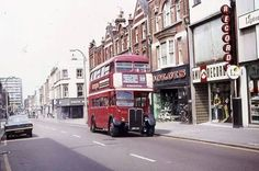 An Old Photo of Sutton High Street Sutton Surrey England London Bus, Old London, West London, Sutton England, Sutton Surrey, Rt Bus, Routemaster, Bus Coach, London Transport