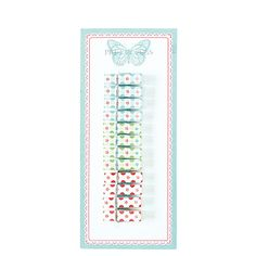 GreenGate Pegs Wooden Mimi 12 Pieces Assorted Small L 4,5 cm | NEW! Spring/Summer 2014 | Originated-Webshop