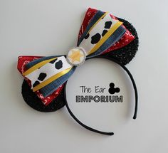 Toy Story Woody/Jessie Inspired Minnie/Mickey Mouse Ears Headband by theearemporium on Etsy https://www.etsy.com/listing/387459714/toy-story-woodyjessie-inspired