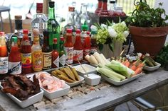bloody mary bar Set it up on your backyard table! ♥ #HomegateFever