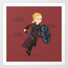 #lagertha #vikings #illustration #flatdesign #series #illustrator #art