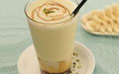 Bananenmilkshake met caramel