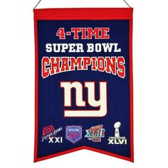 New York Giants Champions Banner