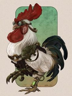 steampunk rooster..