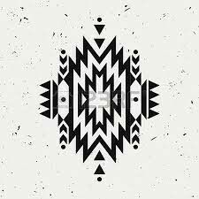 Background with black aztec tribal ornament. Native American Patterns, Native American Design, Indian Patterns, American Indian Art, American Indians, American History, Arte Tribal, Aztec Art, Aztec Tribal Patterns