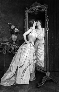 """Vanity"", 1890, Auguste Toulmouche."
