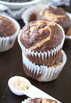 Chocolate Swirl PB2 Banana Muffins Recipe