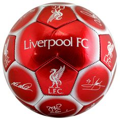 LIVERPOOL FC LFC FOOTBALL CLUB SIZE 5 SIGNATURE FOOTBALL NEW XMAS GIFT