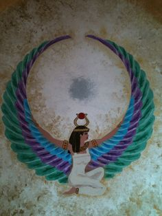 Isis; Queen of the Egpytian Gods, Goddess of Magic and of Rainbows and fertility. Sacred Animal of Isis is the Chicken