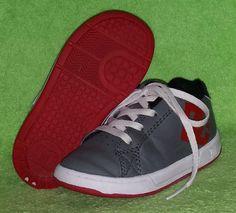 DC Shoes Toddler Boys Court Graffik RS Leather Gray/Red/Black LaceUp Size 8 VGUC #DCShoes #CasualShoes