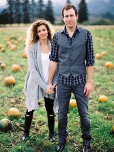 Farm Love Shoot, chefs, farm, organic, couple, love, sweater, pumpkin patch, pumpkins, fall, green // fall engagement inspiration