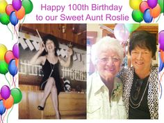 Today is a big day for my family my great Aunt Roslie turned 100 years old this is my mom with her today! Happy 100th Birthday to our sweet Aunt Roslie! We love you with all our hearts!!!