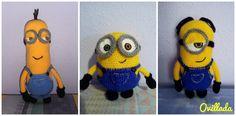 Minions al completo   #crochet #handmade #Minions #ganchillo   https://www.facebook.com/ovilladans/