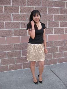 This Fashionista in #eightsixty #sequin skirt