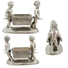 Adorable Victorian sterling silver salt by Charles Frederick Hancock - #acsilver #victorian #victoriansilver #victorianhouse #victorians #victoriana #victorianantiques #sterlingsilver #english #englishsilver #antiqueshop #antiquesilver #antiquesilverware #cruets #putto #cherubs #putti #novelty #gift #silverforsale #englishantiques #englishantiquesforsale £3,750 -  www.acsilver.co.uk